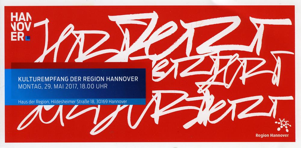 Einladung zum Kulturempfang der Region Hannover