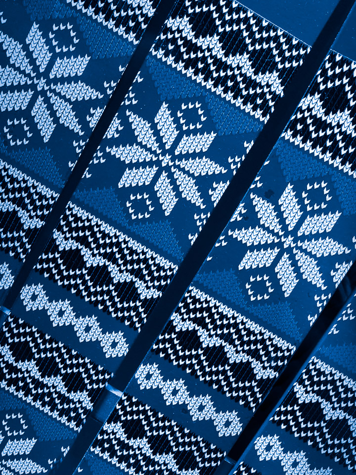 Knit Patterned Skis - Blue