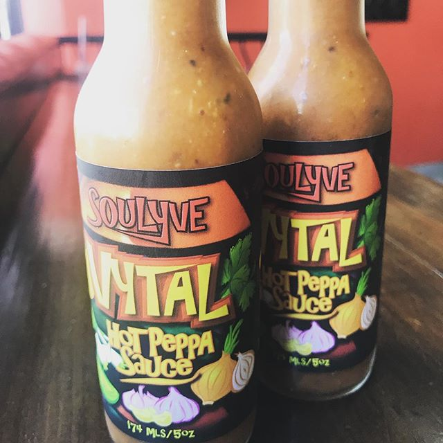 Our homemade hot peppa sauce is now bottled and ready to go for you in #Guelph! #fusion #Lyve519 #SpiceUpYourLife