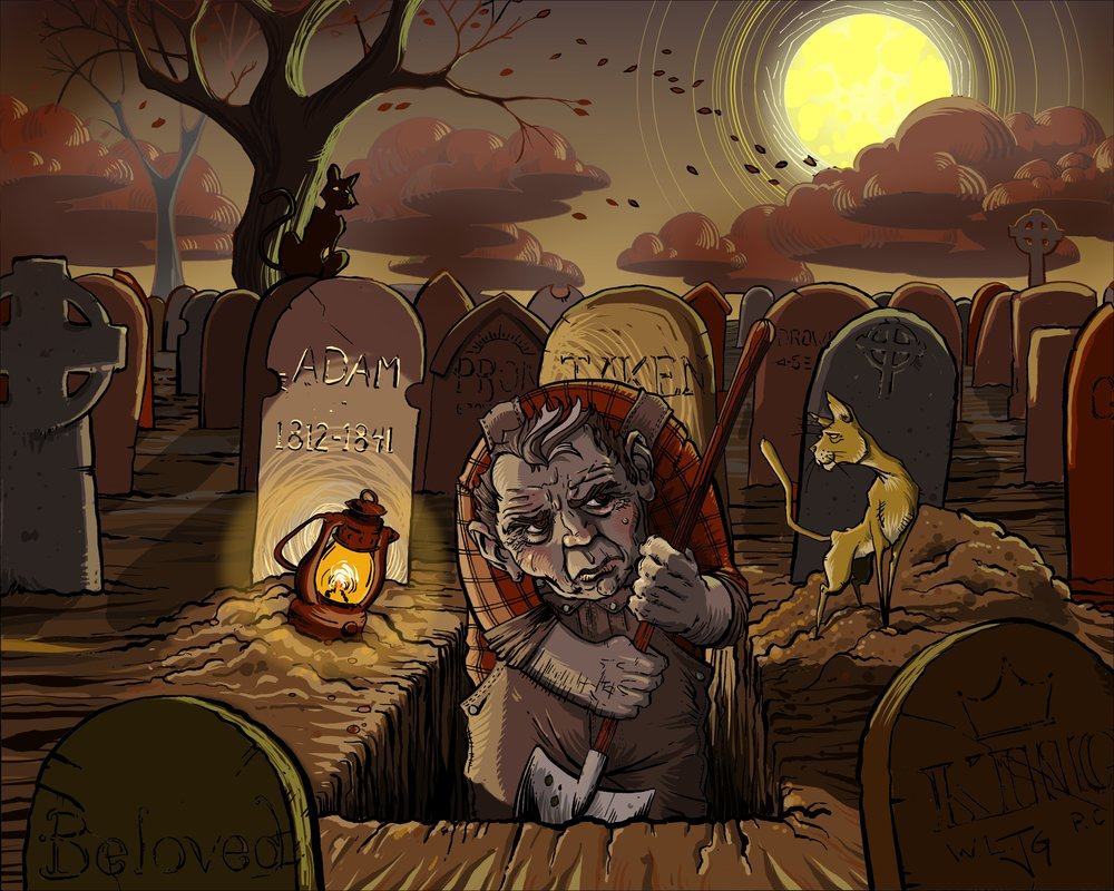 The Grave Digger and his Cats