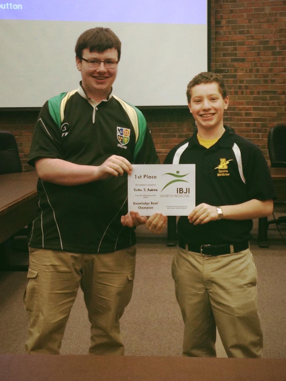 1st Place,Viktor J. Andrew High School