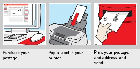 Finally you can print your own stamps from the royal mail. Check it out  here .