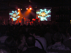 13122005(003).jpg        Originally uploaded by  jkprime .      Caught Fat Freddys Drop at the Hamersmith Palais last night.  Very cool New Zealand Dub band with a trombonist, trumpeter and sax.  Really cool chilled out beats, would have been absolutely ideal for a sunny day in the park, not so ideal for a dark Hammersmith Palais at 1am.  The band didnt come on until after 11, which meant a late night was inevitable.  Was a very slow start this morning!
