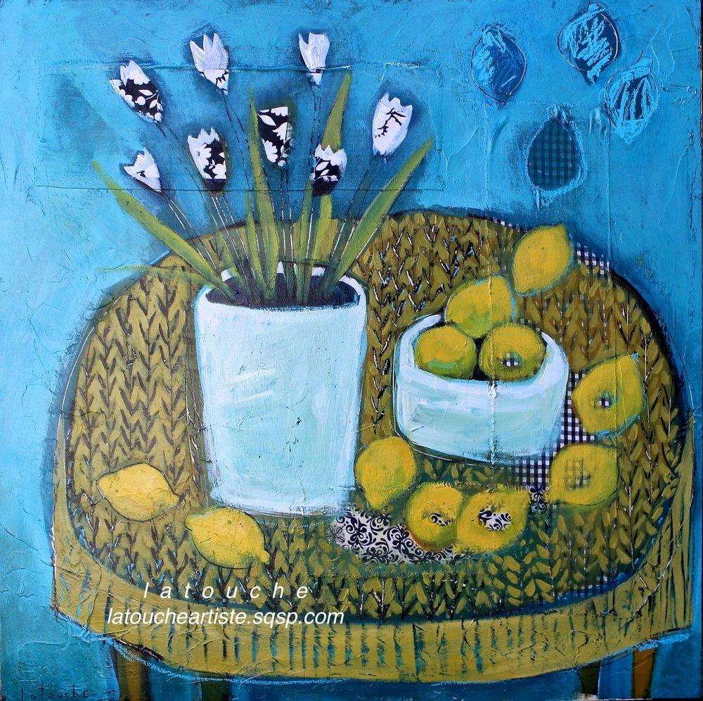 Bouquet et ses citrons