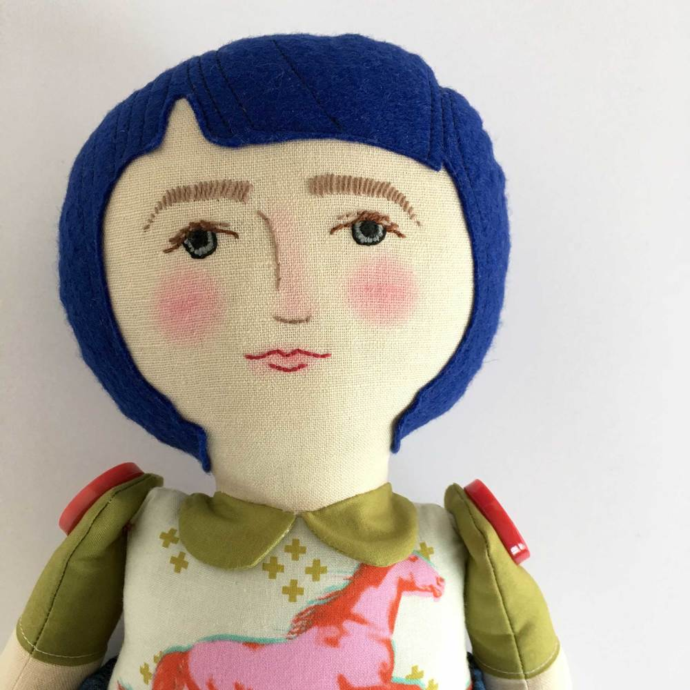 Lady Friend Doll with Blue Hair