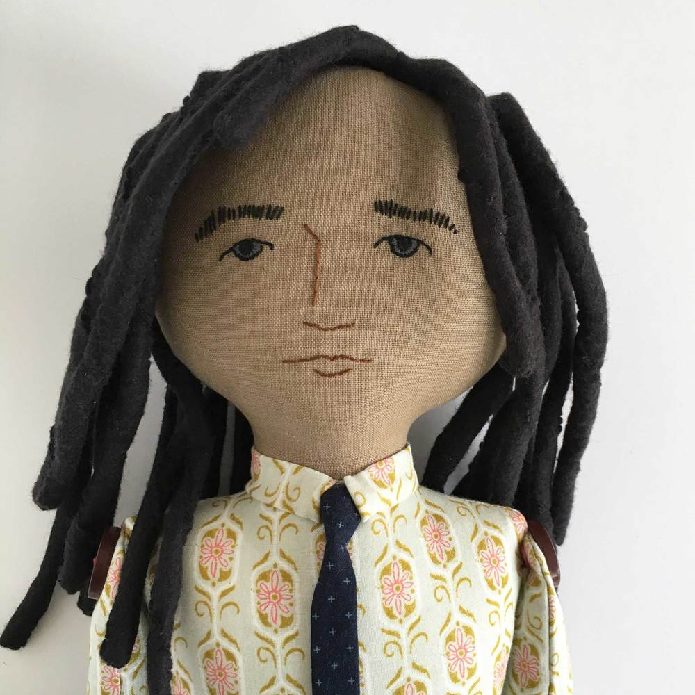 Bearded Fella Doll with dreadlocks