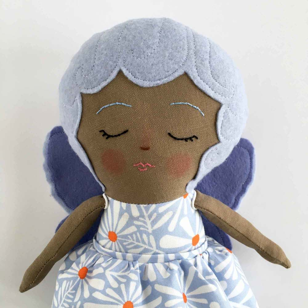 Purple Sleeping Fairy Doll