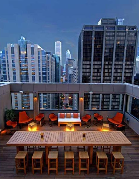 Affinia Chicago Rooftop Bar