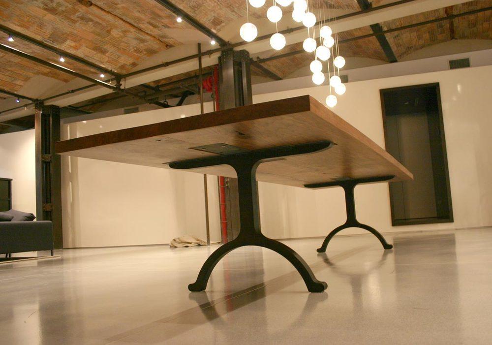 Custom Wishbone Slab Table