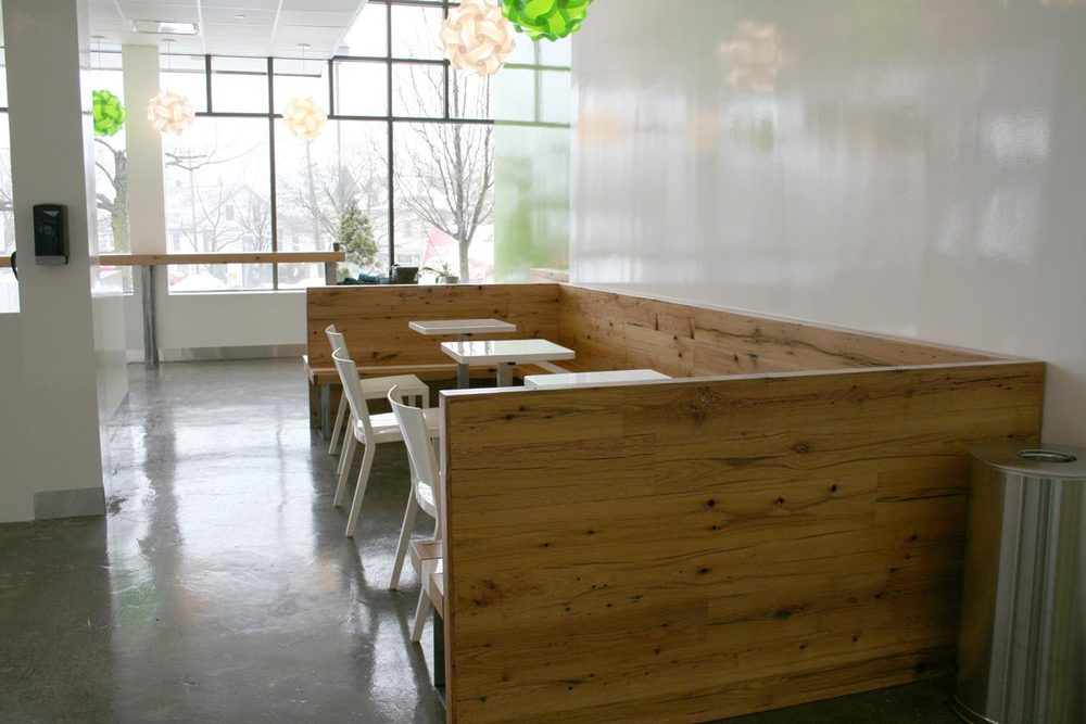 Go Greenly Cafe Tables + Booths