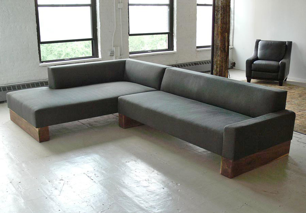 Custom Large Beam Sectional Sofa