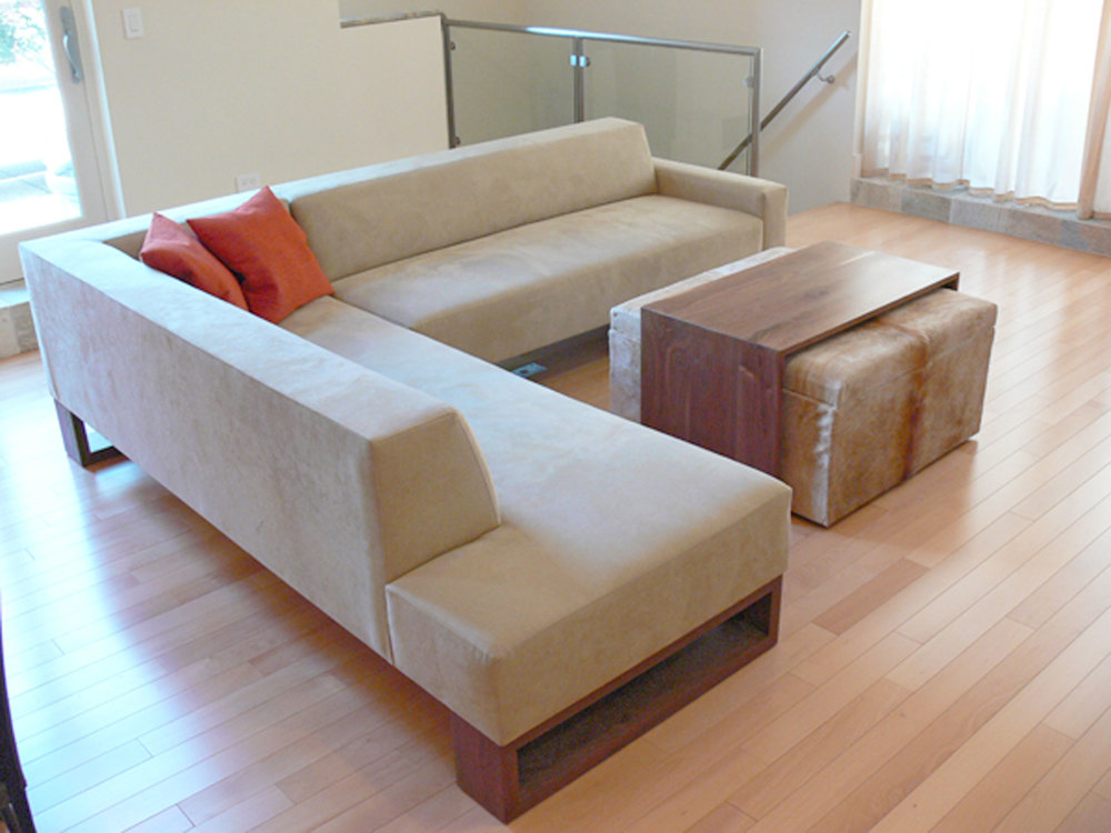 Custom Beam Sectional Sofa