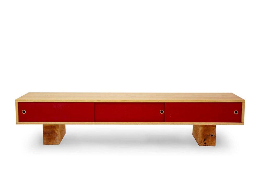 Red Oak Hardwood + Red Doors