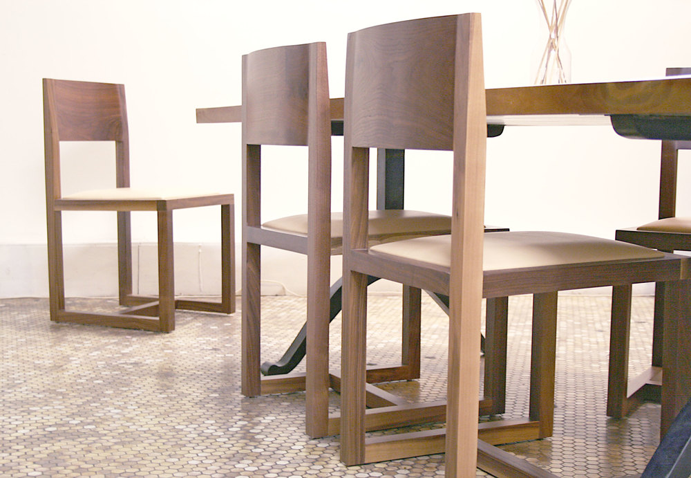 ST. LAWRENCE CHAIRS  +  HARD EDGE TABLE ABLE