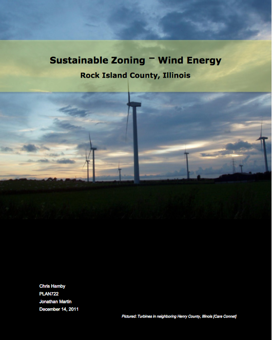 Land Use and Renewable Energy: Wind Development in Rock Island, Illinois