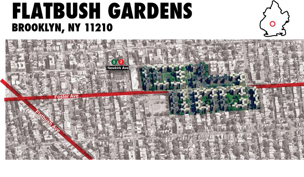 Flatbush Gardens map