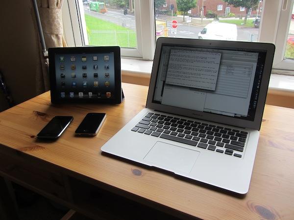 Beautifully simple work setup
