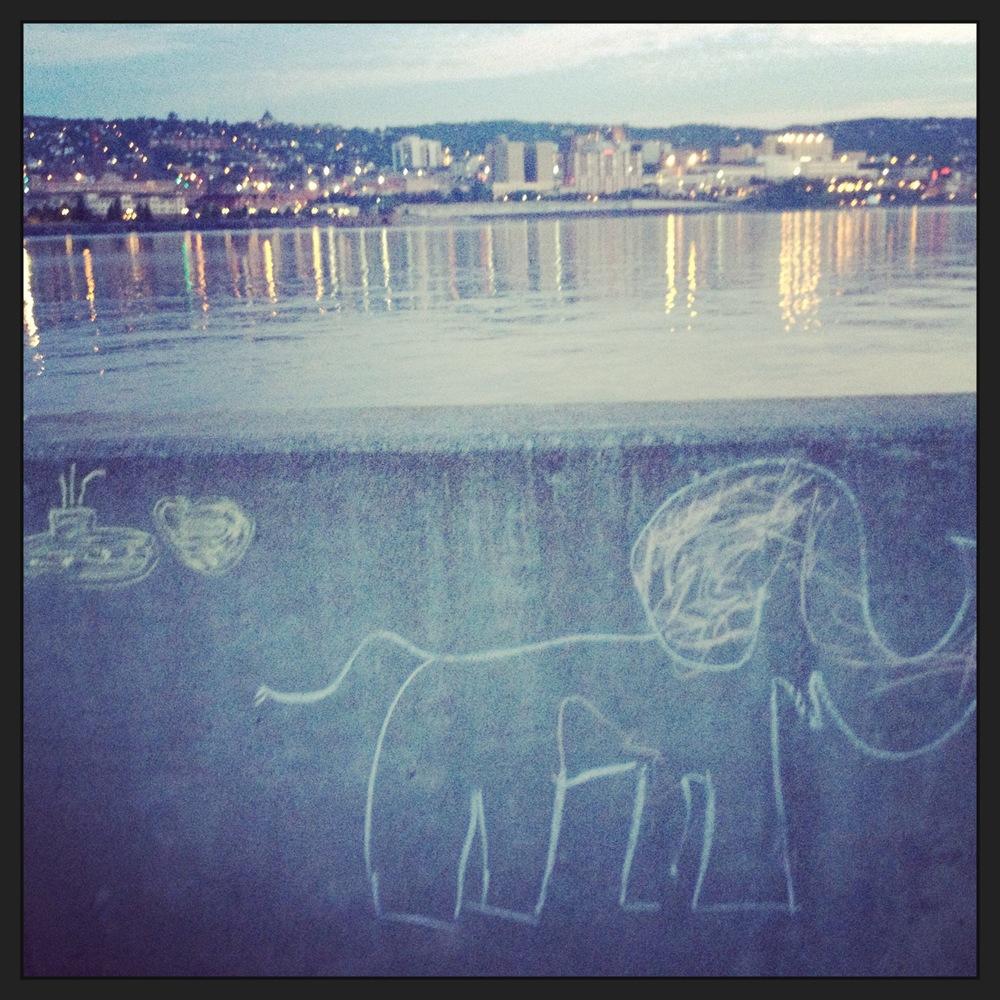 Canal Park rogue art.JPG