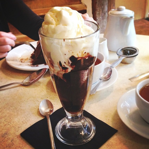 Hot Fudge Sundae at Tiny Tim's Tea Room.jpg