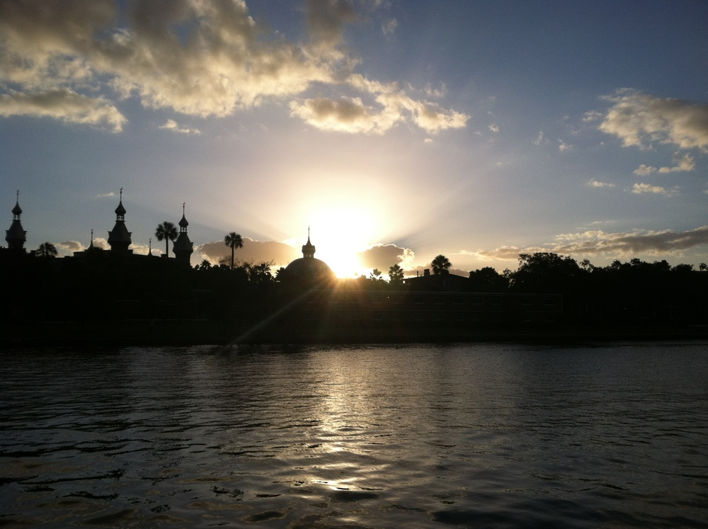 View of University of Tampa at Sunset.JPG