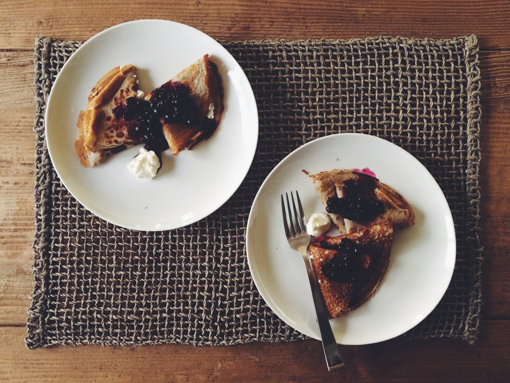 SPELT CREPES WITH LEMON RICOTTA AND BLUEBERRIES | Eat This Poem