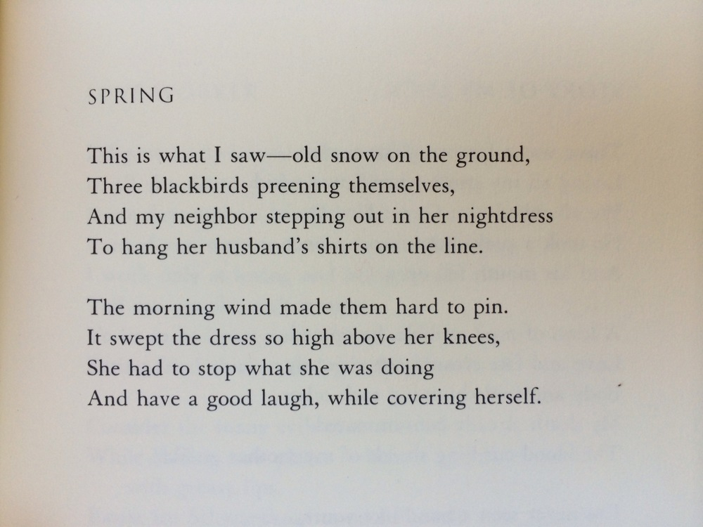 """Spring"" by Charles Simic"
