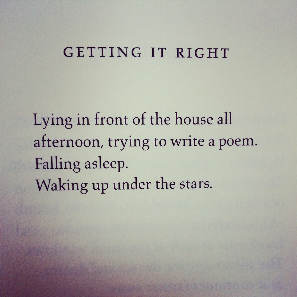 """Getting It Right"" by Jack Gilbert"