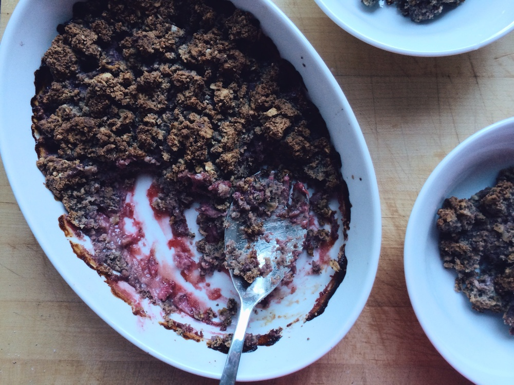 Strawberry Oat Breakfast Crisp | Eat This Poem