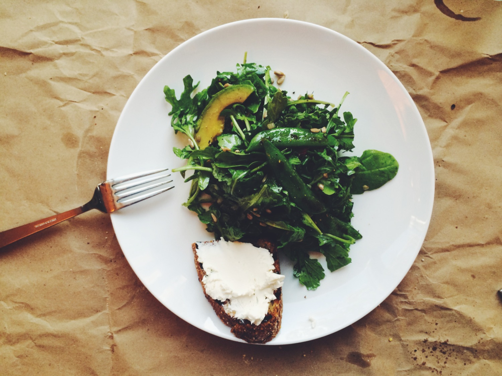 Arugula and Pea Salad | Eat This Poem #summer #salad #arugula