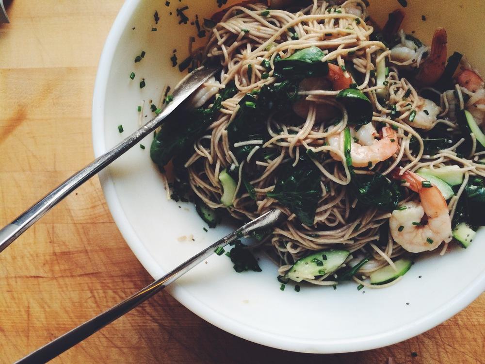 Buckwheat by Carl Sandburg + Cold Soba Salad