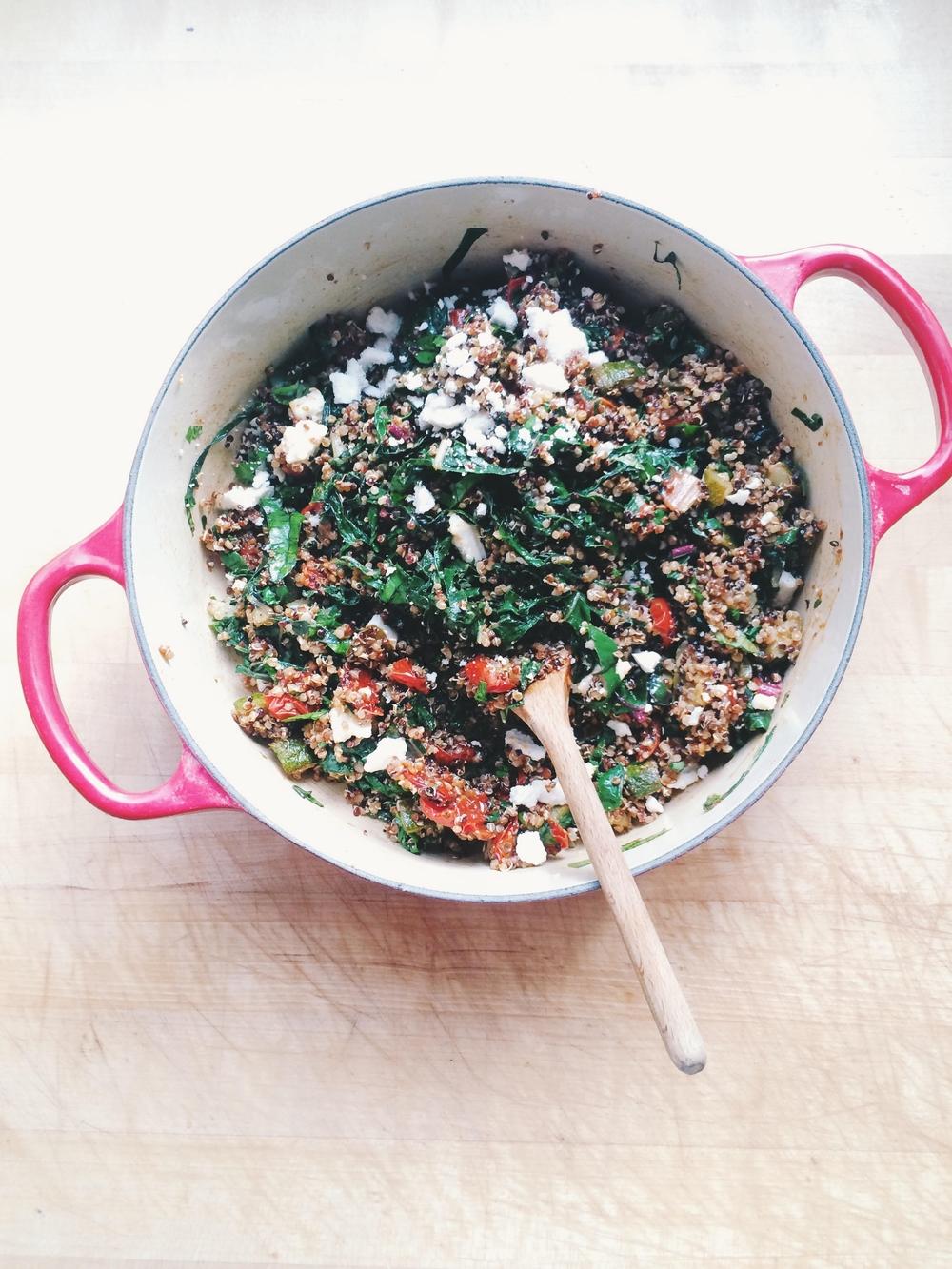 Quinoa Salad with Homemade Harissa   Eat This Poem