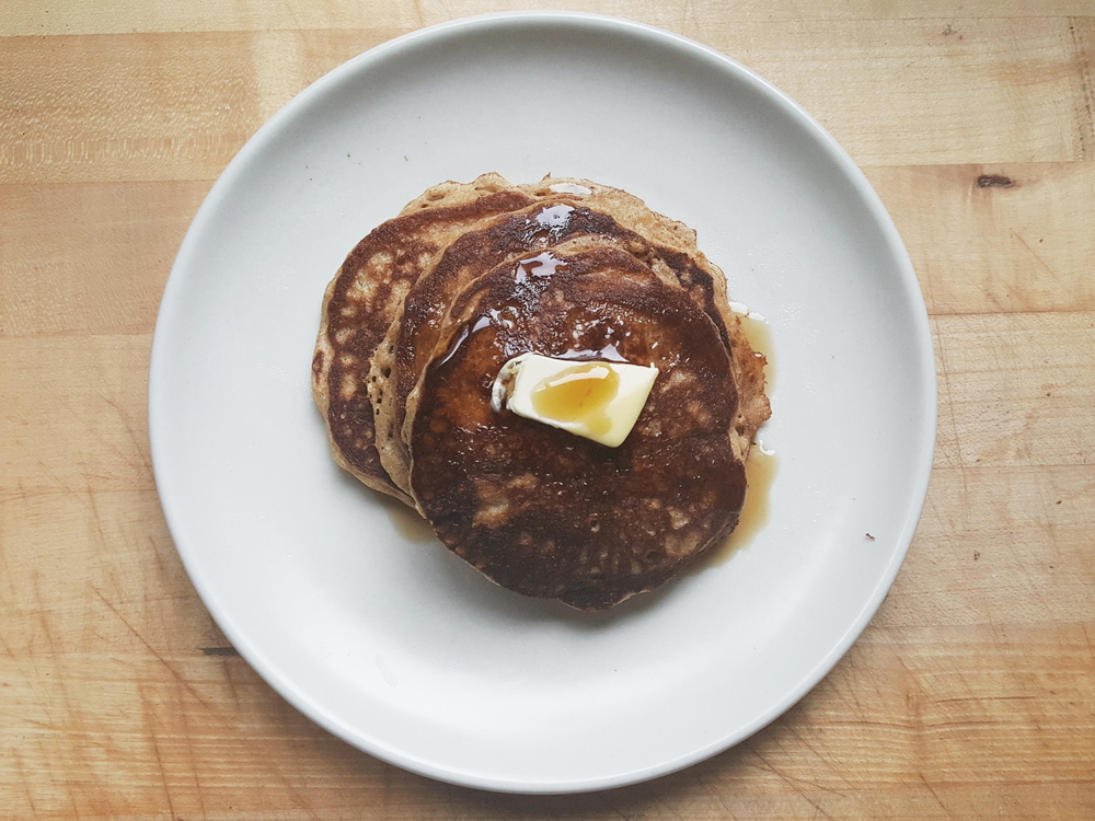Whole Grain Vanilla Pancakes