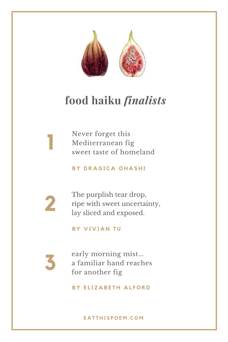 Food Haiku Contest September 2016