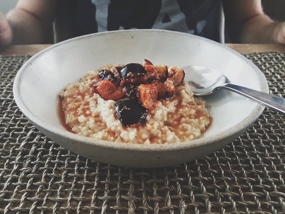 Steel Cut Oats with Orange-Stewed Figs