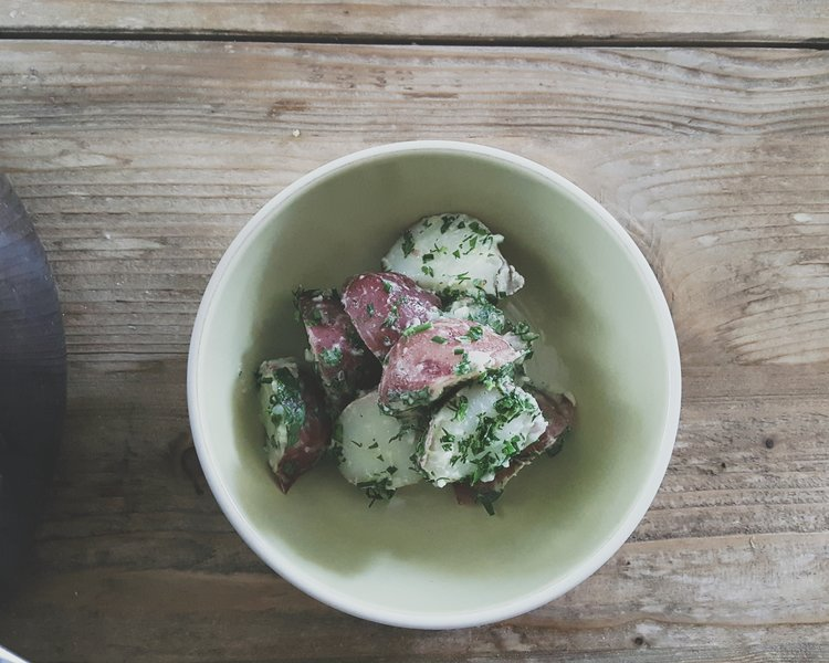 Eat this poem potato salad with yogurt vinaigrette and lots of herbs via eat this poem forumfinder Gallery