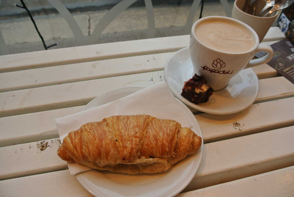 Croissant and Flat White at Papadeli.JPG