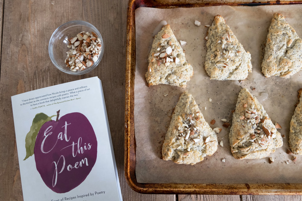 Almond Poppy Seed Scones from Eat This Poem