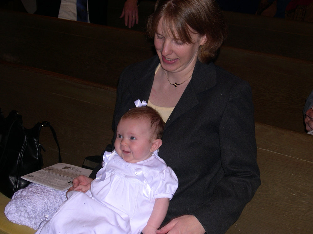 My daughter and her mama before Palm Sunday 2005, the day she was baptized.