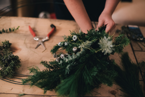 Holiday Wreaths with Blomma Designs