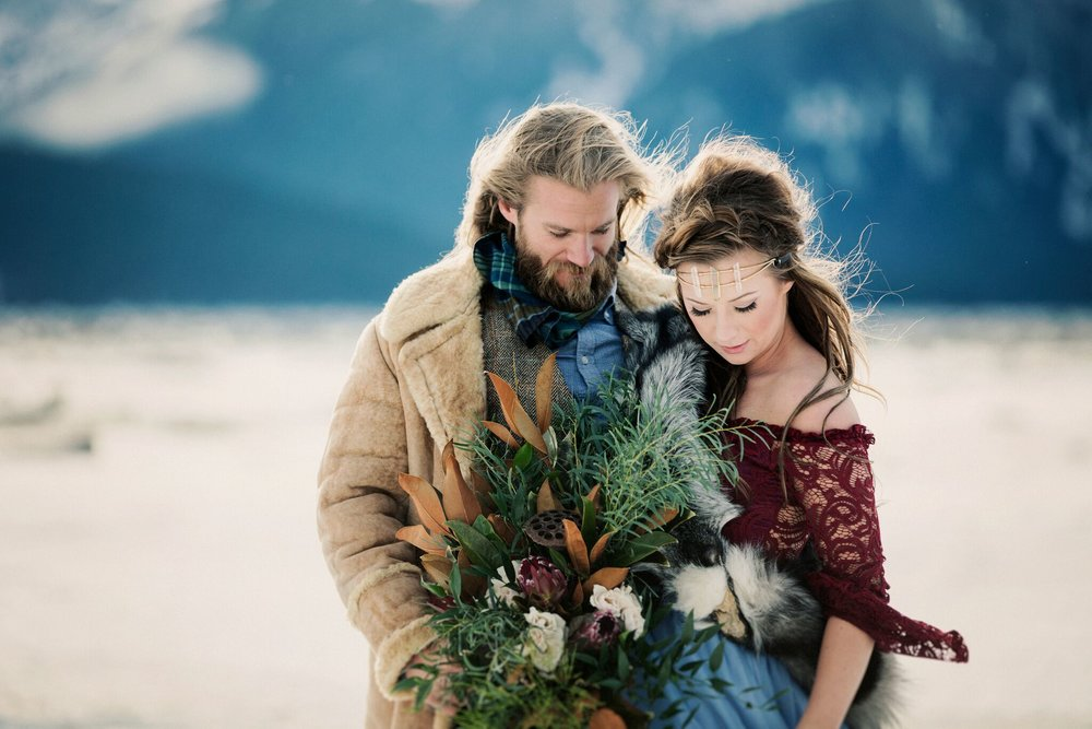 Surprise Alaskan Winter Engagement