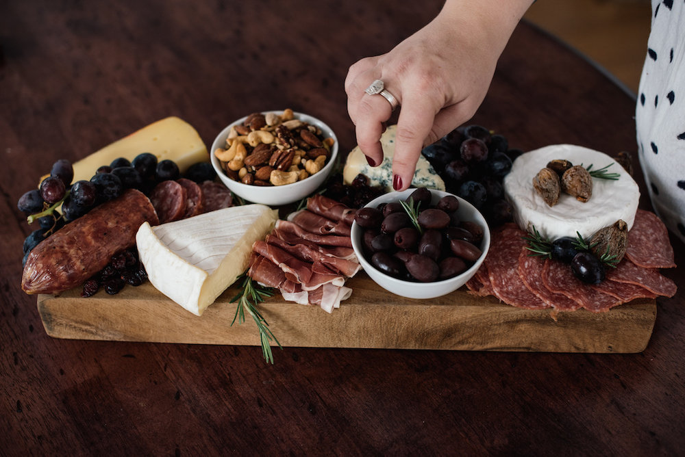 Holiday Charcuterie Display - Perfect Ideas for Entertaining at home during the holidays with Blomma Designs!