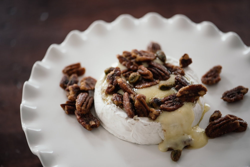 Holiday Entertaining - Baked Brie with Blackberry Compote and Spiced Mixed Nuts