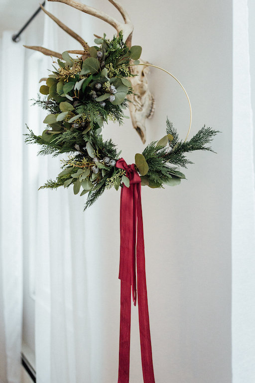 Indoor Copper Christmas Wreath - Blomma Designs