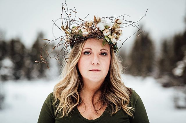 When you make a winter goddess crown, it's only fitting that you spend a few minutes pretending to be comfortable getting your photo taken by the talented @anne.marie.moran. We dressed up in the most beautiful gowns, frolicked in the woods, nearly froze to death and let ourselves feel pretty again. And I have never laughed so hard. I used to hide from the camera, but now I have too much to lose. I want my daughters to have memories of me that are tangible. All of me. Even the crazy, wonderfully weird projects I entangle myself in. Even the real life photos where my hair is messy, I'm not wearing makeup and my smile is big. I want them to have it all because these memories are so important. Photo | @anne.marie.moran