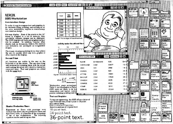 Desktop as a literal desktop. Xerox Star, 1981.