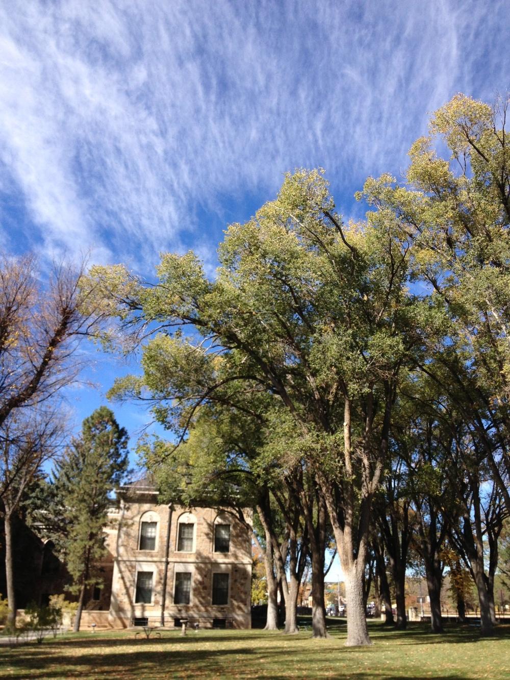 santa fe clouds and trees.jpg