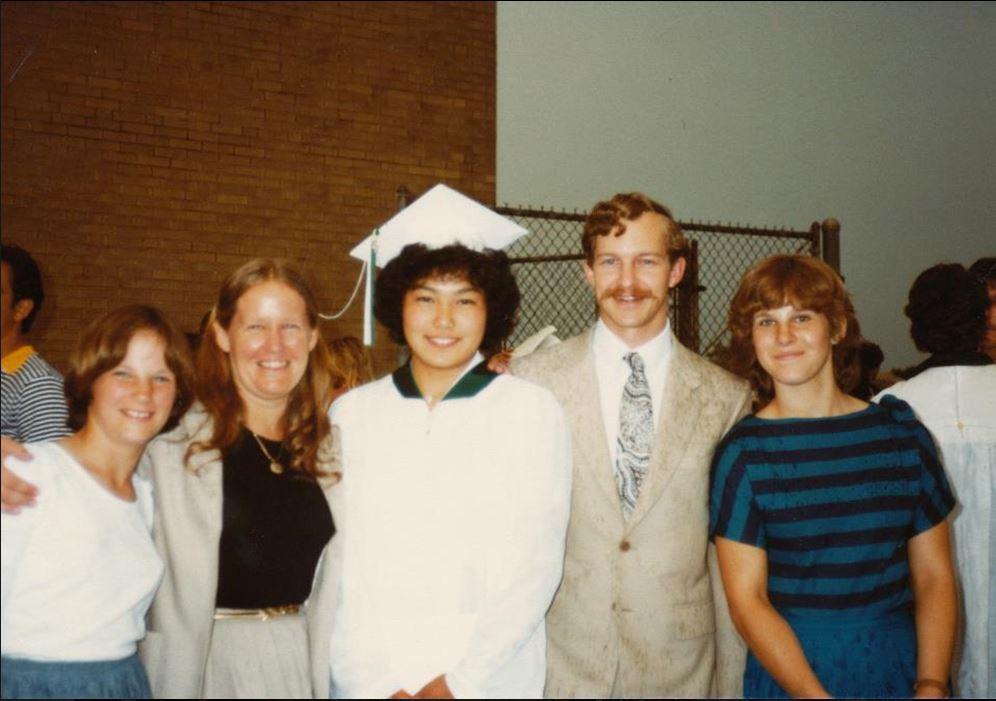 Hiroko's graduation 1982
