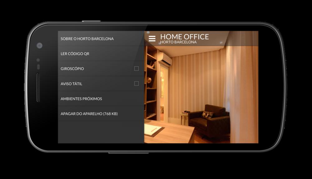 As opções disponíveis no menu podem variar de acordo com os recursos de cada equipamento móvel.