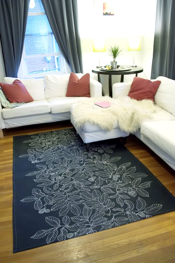diy dropcloth rug very paige