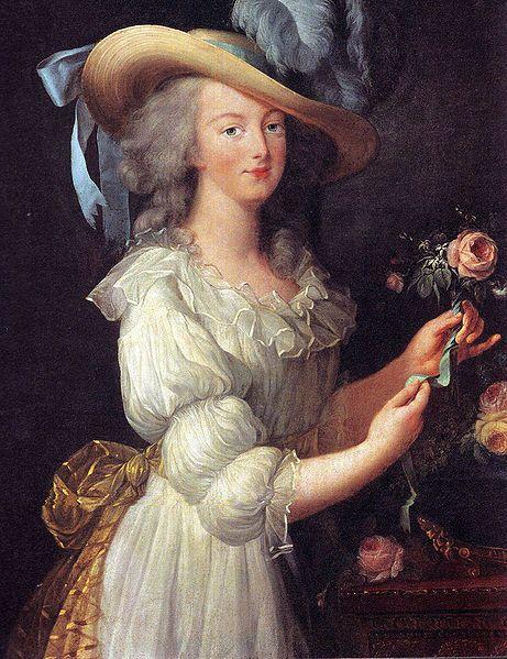 Marie Antoinette in a 'Gaulle de la Reine', 1783 by Louise Elisabeth Vigee-Lebrun.